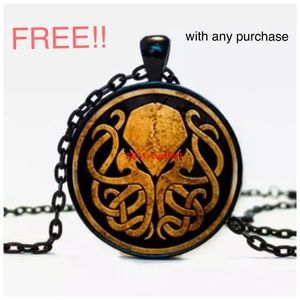 Jewelry - ‼️FREE‼️ w any purchase Glass Cabechon Cthulhu NEW